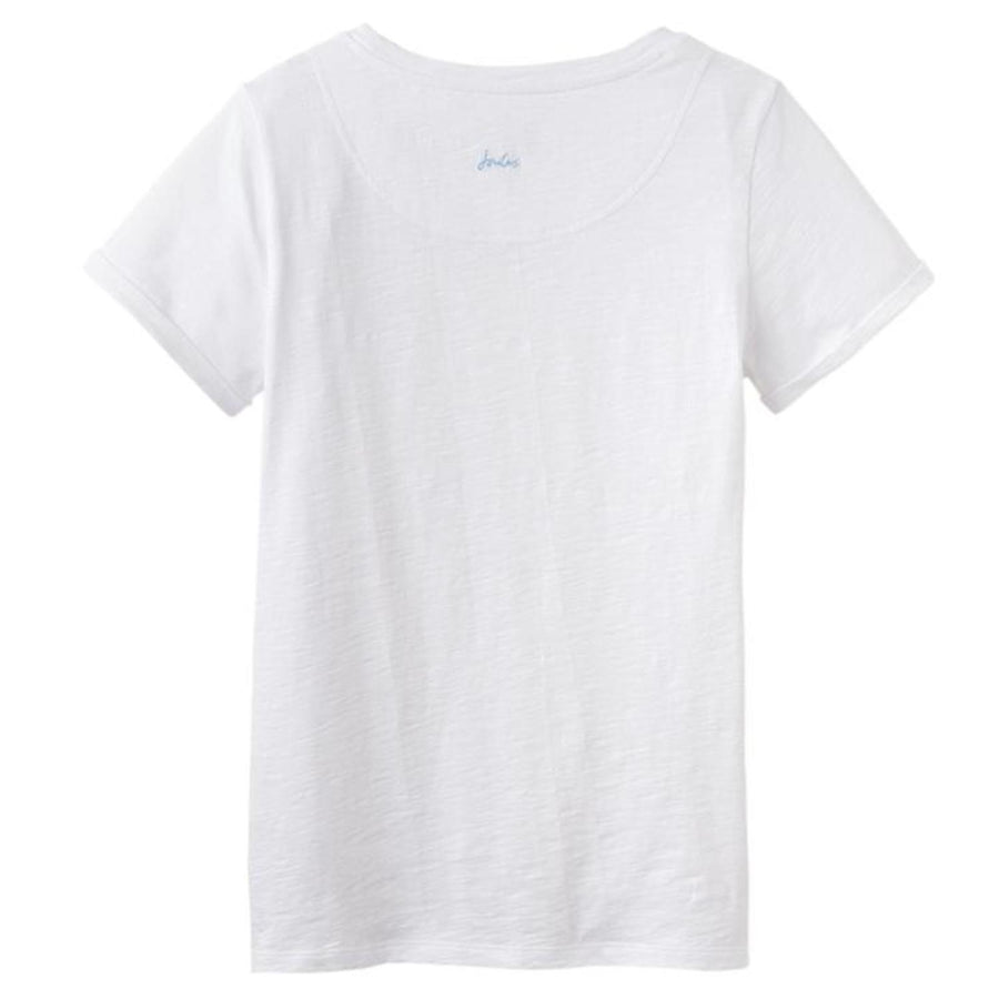 Joules Nessa Jersey Top Bright White