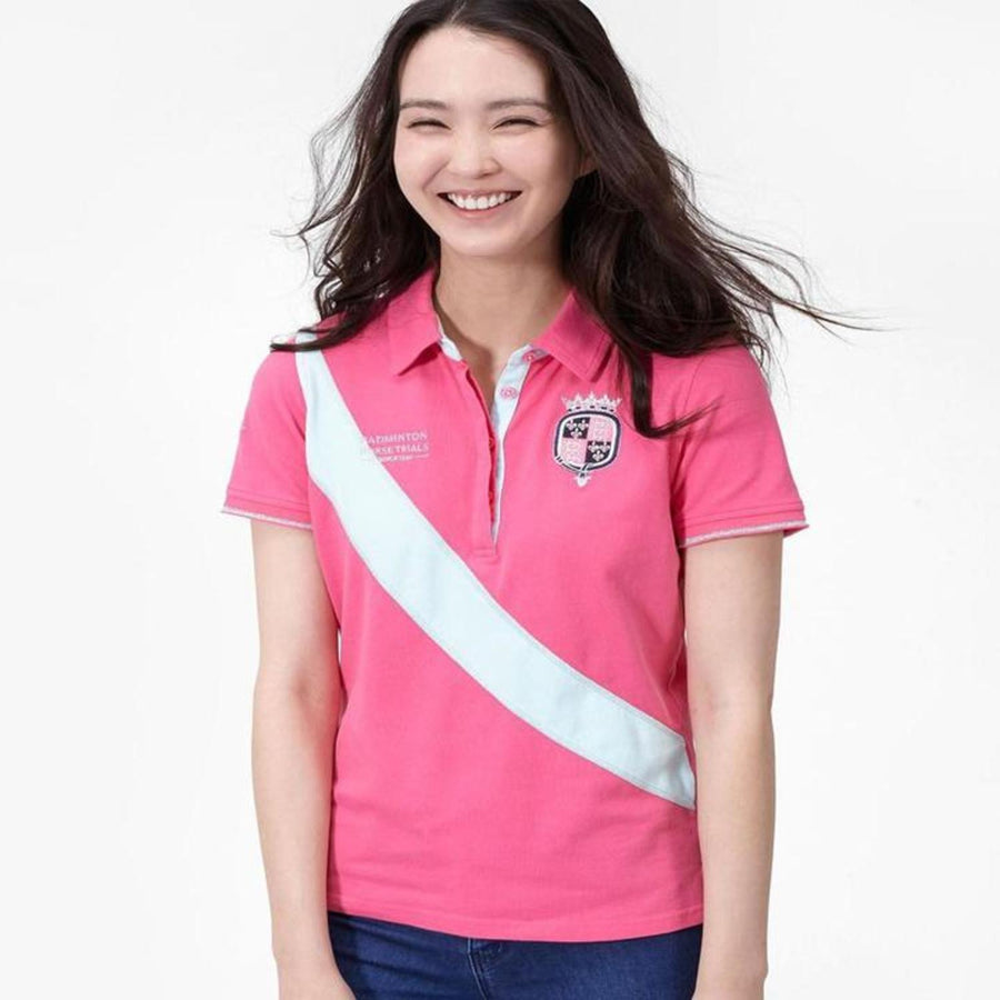 Joules Badminton Polo Shirt Pink