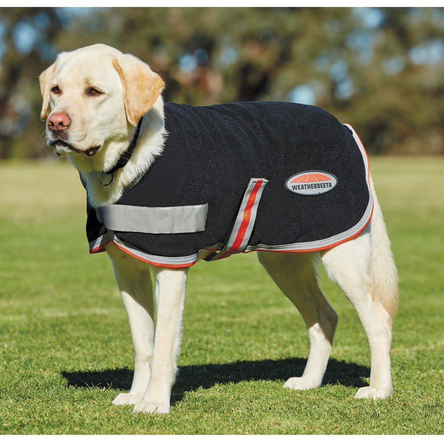 Weatherbeeta Therapy-Tec Dog Coat Black/Silver/Red