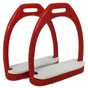 Best on Horse Aluminium Stirrups Red