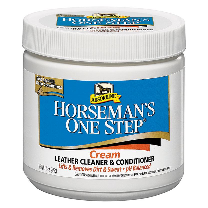 Absorbine Horsemans One Step Leather Cream White