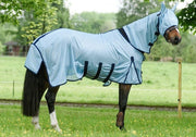 White Horse Equestrian Hi-Fly Mesh Fly Rug  Ice Blue