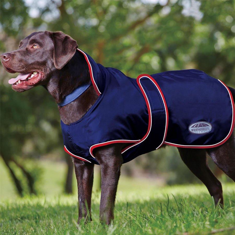 Weatherbeeta Windbreaker 420D Deluxe Dog Coat Navy/Red/White