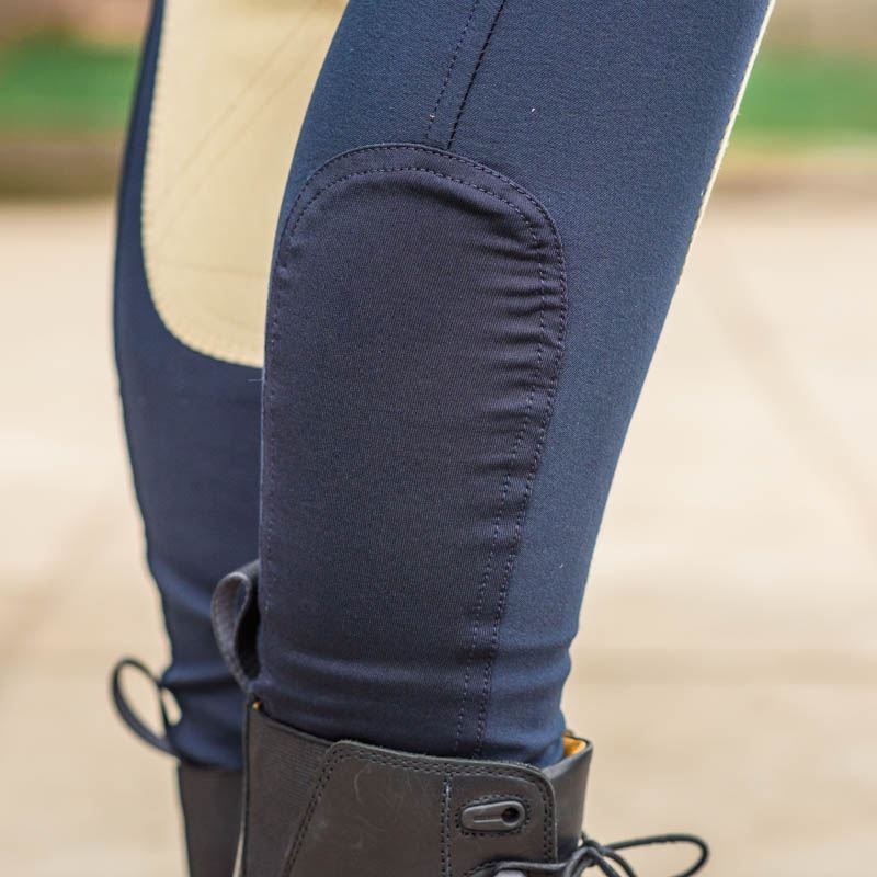 Best On Horse Micro Breeches Navy/Beige