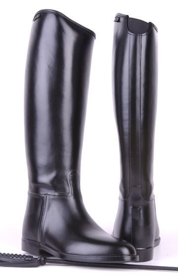 HKM Mens Riding Boots With Elasticated Insert Standard Black