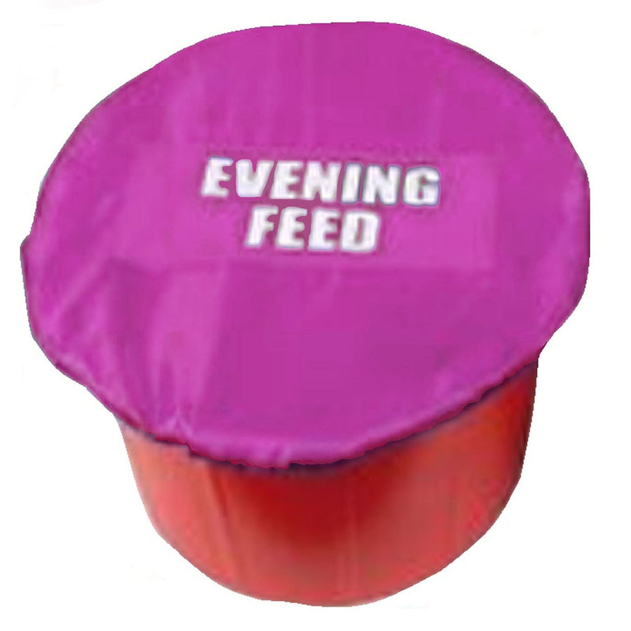 White Horse Equestrian Morning/Evening Feed Bucket Cover Pink