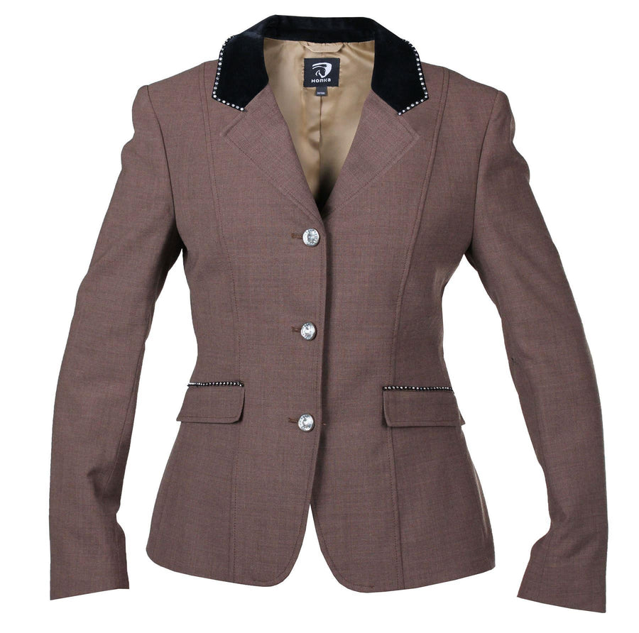 Horka Ladies 'Piaffe Strass' Competition Jackets Brown