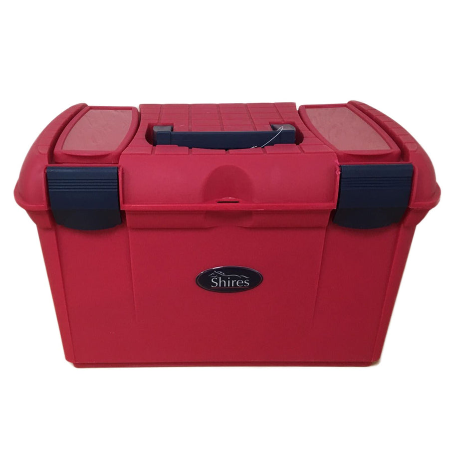 Shires 2 Tone Grooming Box Red/Navy