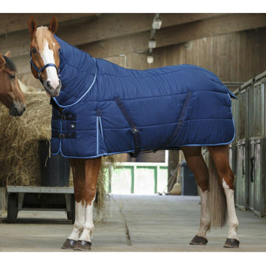 Riding World Combo Stable Rug Navy/Sky Blue