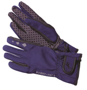 HH4641 Harry Hall Softshell riding glove Navy Blue