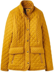 Joules Newdale Quilted Coat Brown