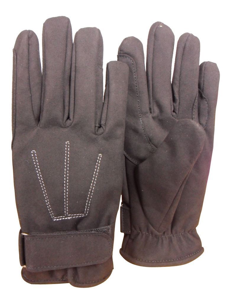 Riders Trend Adults Chaps and Gloves Set Black