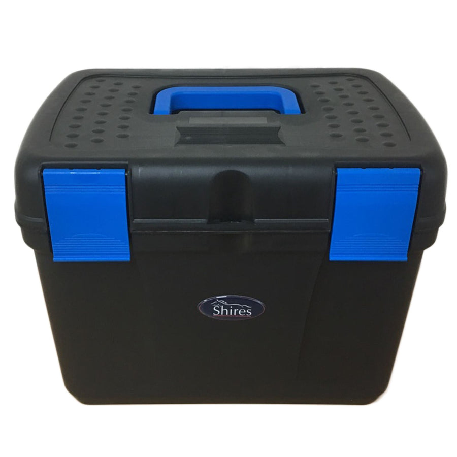Shires Deluxe Grooming Box Black/Royal Blue