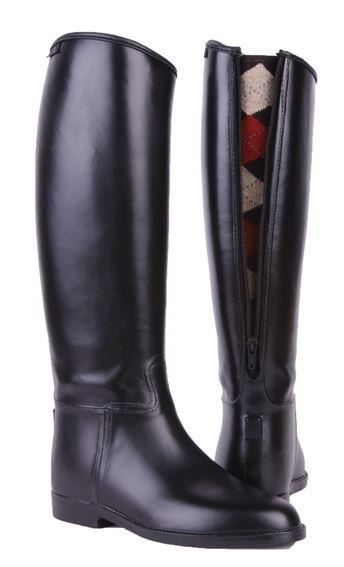 HKM Mens Riding Boots Long And Wide With Zip Black