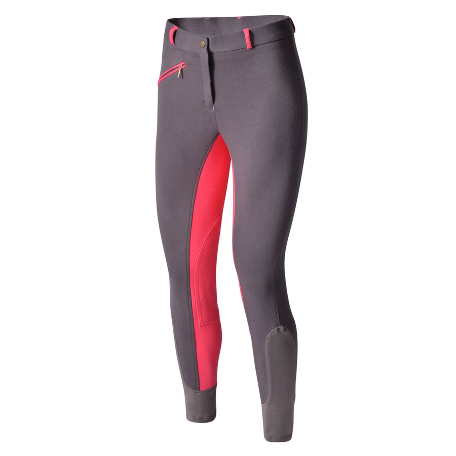 Bow & Arrow Day Breeches Charcoal/Pink