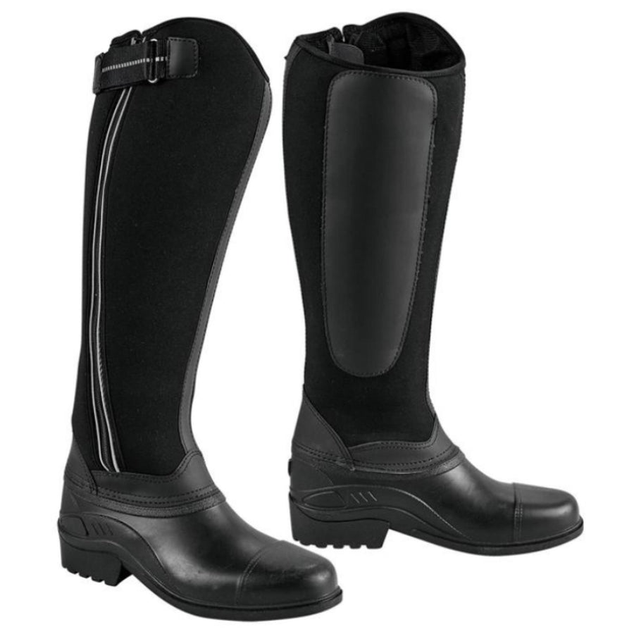 Bow and Arrow Neoprene Waterproof Riding Boots Black