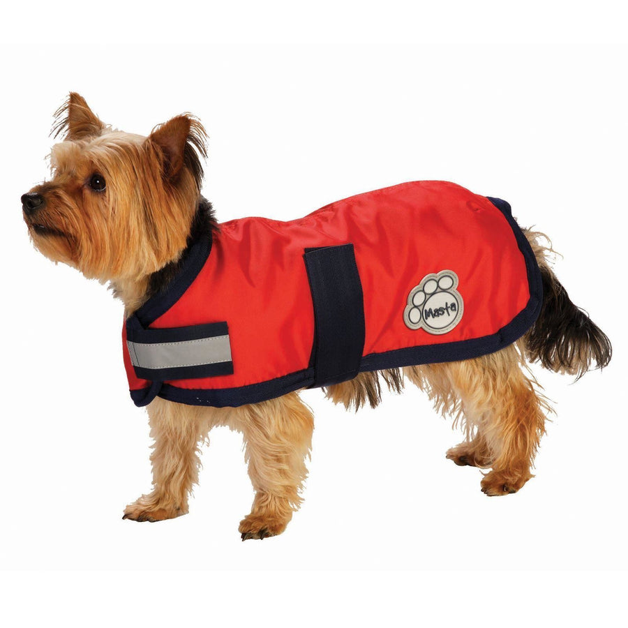 DOG11 Masta Waterproof Nylon Dog Coat Red