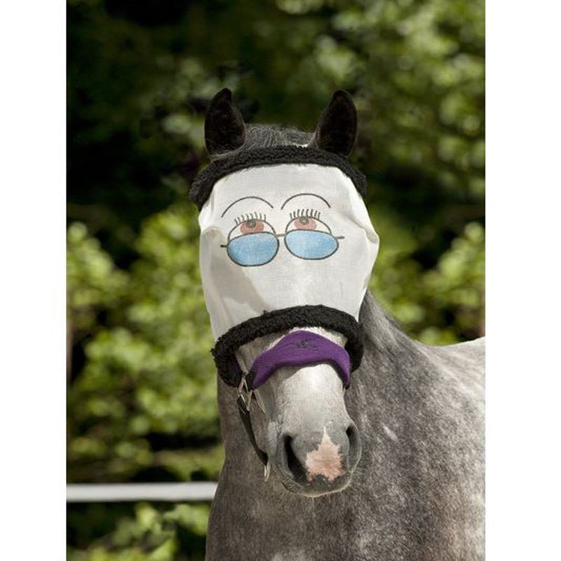 Riding World 3069-- Ekkia Eyes Fly Mask White/Blue
