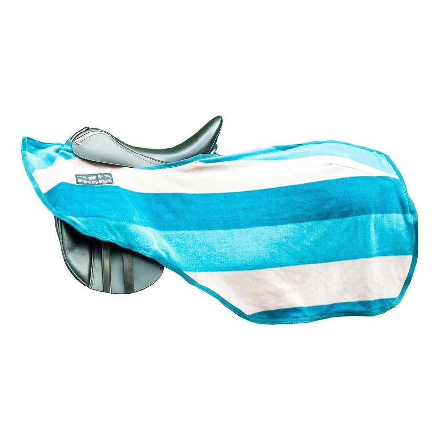 Hkm Exercise Sheet Color Stripes Blankets Petrol Grey Azure