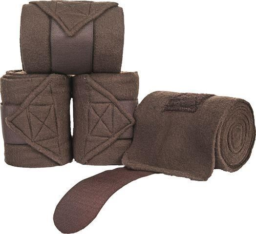 HKM Polar Fleece Bandages Brown
