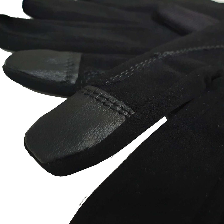 Bow & Arrow Womens Nubuck Riding Gloves Black