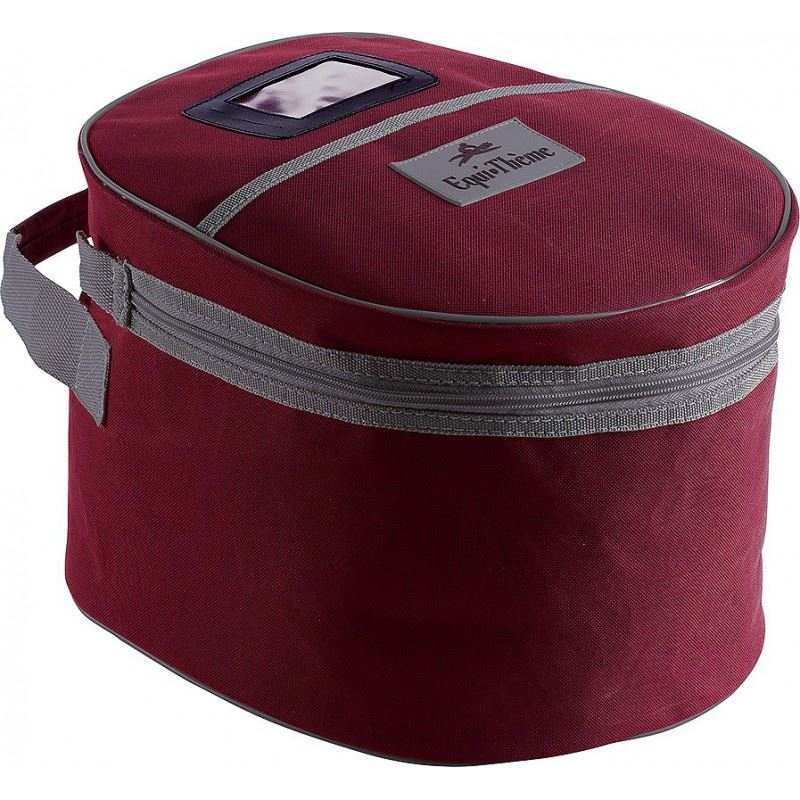 Equi-Theme Helmet Bag Burgundy and Grey