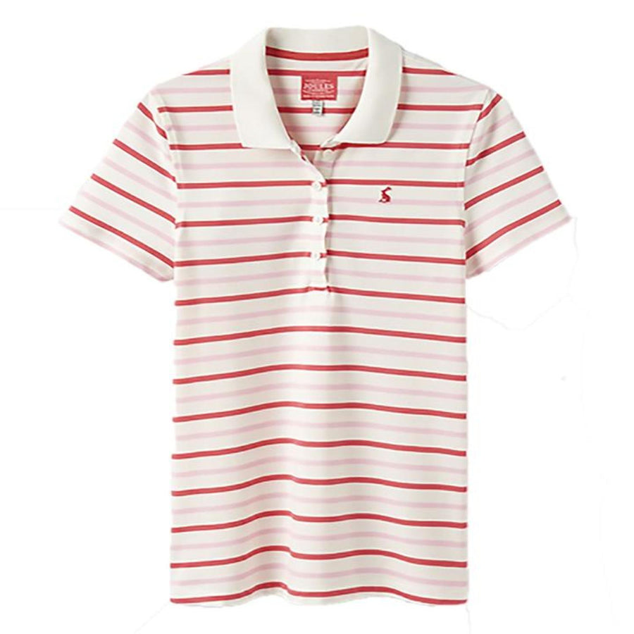 Joules Pippa Ladies Polo Shirt Pink Multi Stripe