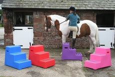 Classic Showjumps Premium Mounting Block One Tread Red