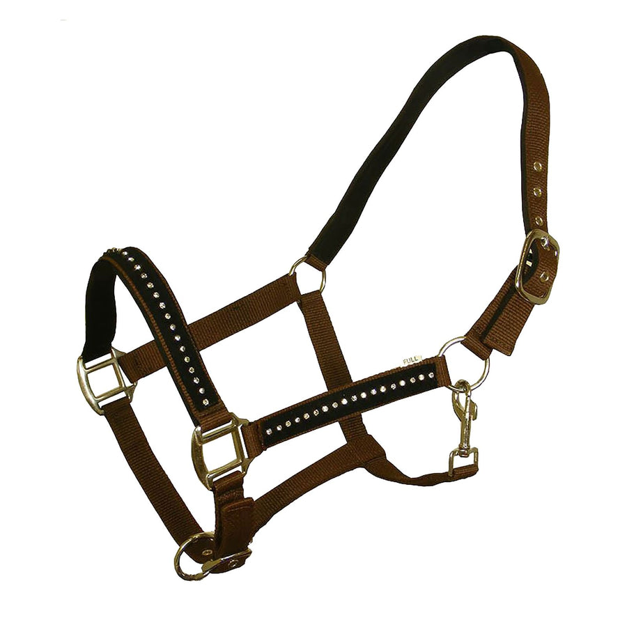 White Horse Equestrian DHC Headcollar without Leadrope Brown