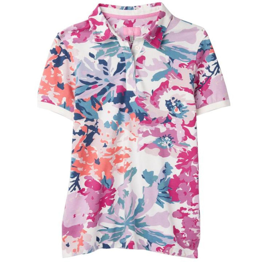 Joules Pippa Ladies Polo Shirt Cream Floral