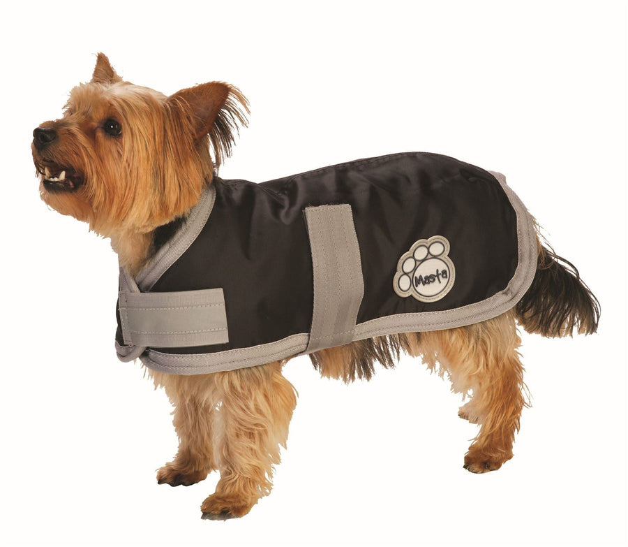 DOG11 Masta Waterproof Nylon Dog Coat Black
