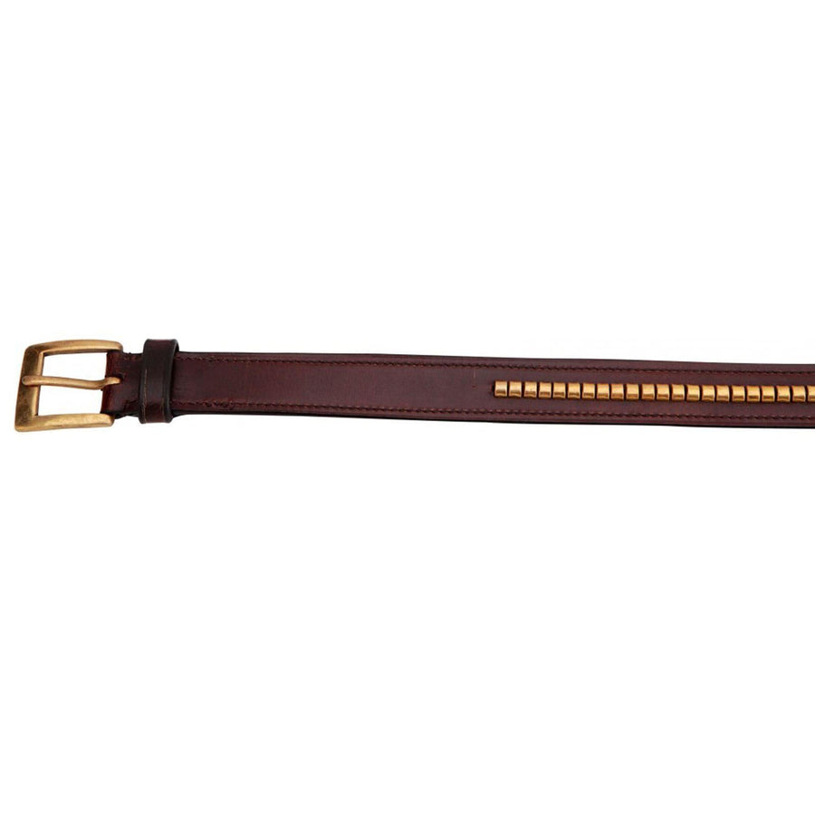Horka Leather Clincher Ladies Belt Brown/Gold