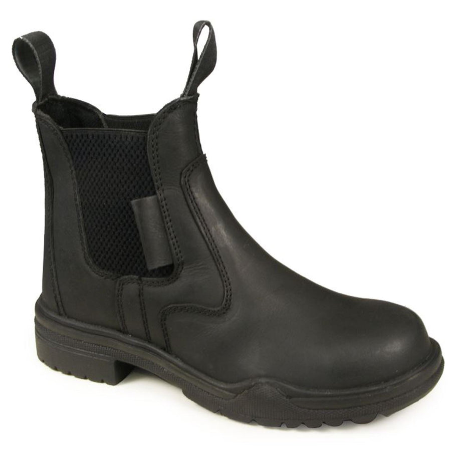 Joy Rider Hard Rock Steel Toe Riding Boots Black