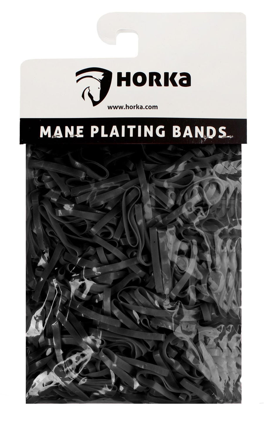 Horka Mane 'Plaiting Bands' Grooming Accessories Black