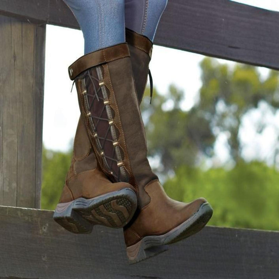 Dublin Ladies Pinnacle Country Boots Brown