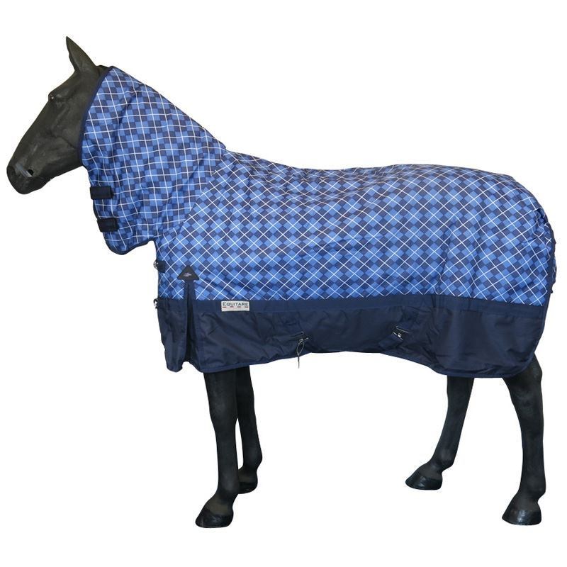 White Horse Equestrian Equitaire Rug Medium Blue