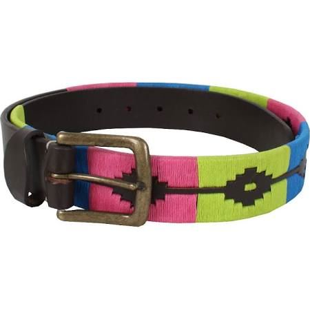 Shires Ladies Moreno Polo Belt Blue, Pink and Lime