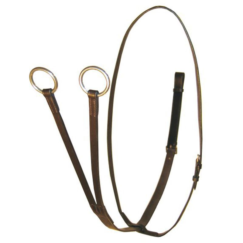 White Horse Equestrian Apna Leather Martingale Brown
