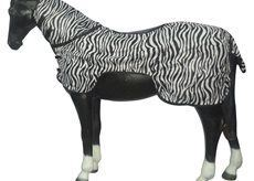 White Horse Equestrian Ride On Fly Rug Zebra