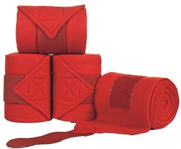 HKM Polar Fleece Bandages Red