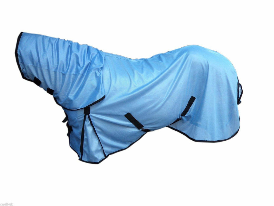 White Horse Equestrian Oracle Fly Sheet Sky Blue