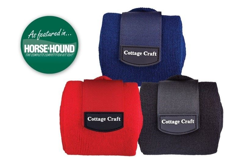 Cottage Craft Stable Bandages Set of 4 Black