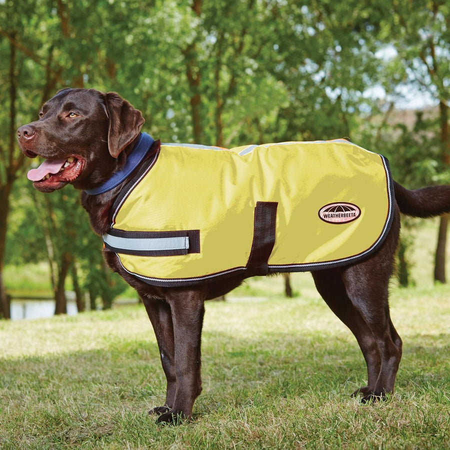 Weatherbeeta Reflective Parka 300D Dog Coat Yellow