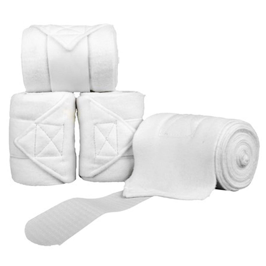 HKM Polar Fleece Bandages White