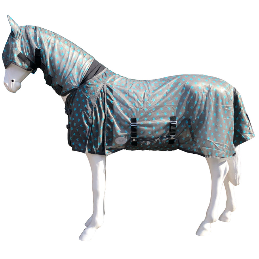 BOH Stars Fly Rug Dark Grey/Aqua