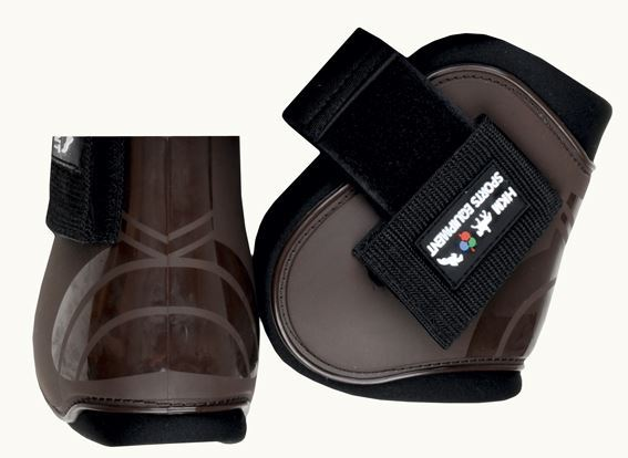 HKM 8566 Fetlock Horse Boots Deep Brown/Black