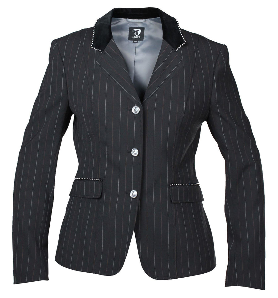 Horka Ladies 'Piaffe Strass' Competition Jackets Stripe Black