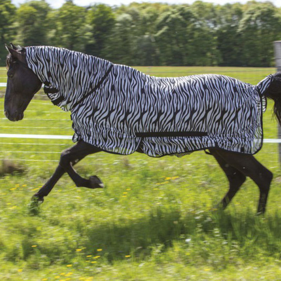 Riding World Combo Mesh Sheet Zebra