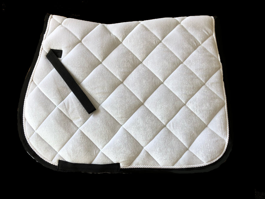White Horse Equestrian Soft Touch Saddle Pad  White