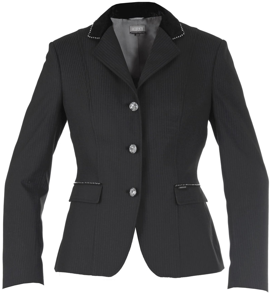 Horka Ladies 'Piaffe Strass' Competition Jackets Black/Silver